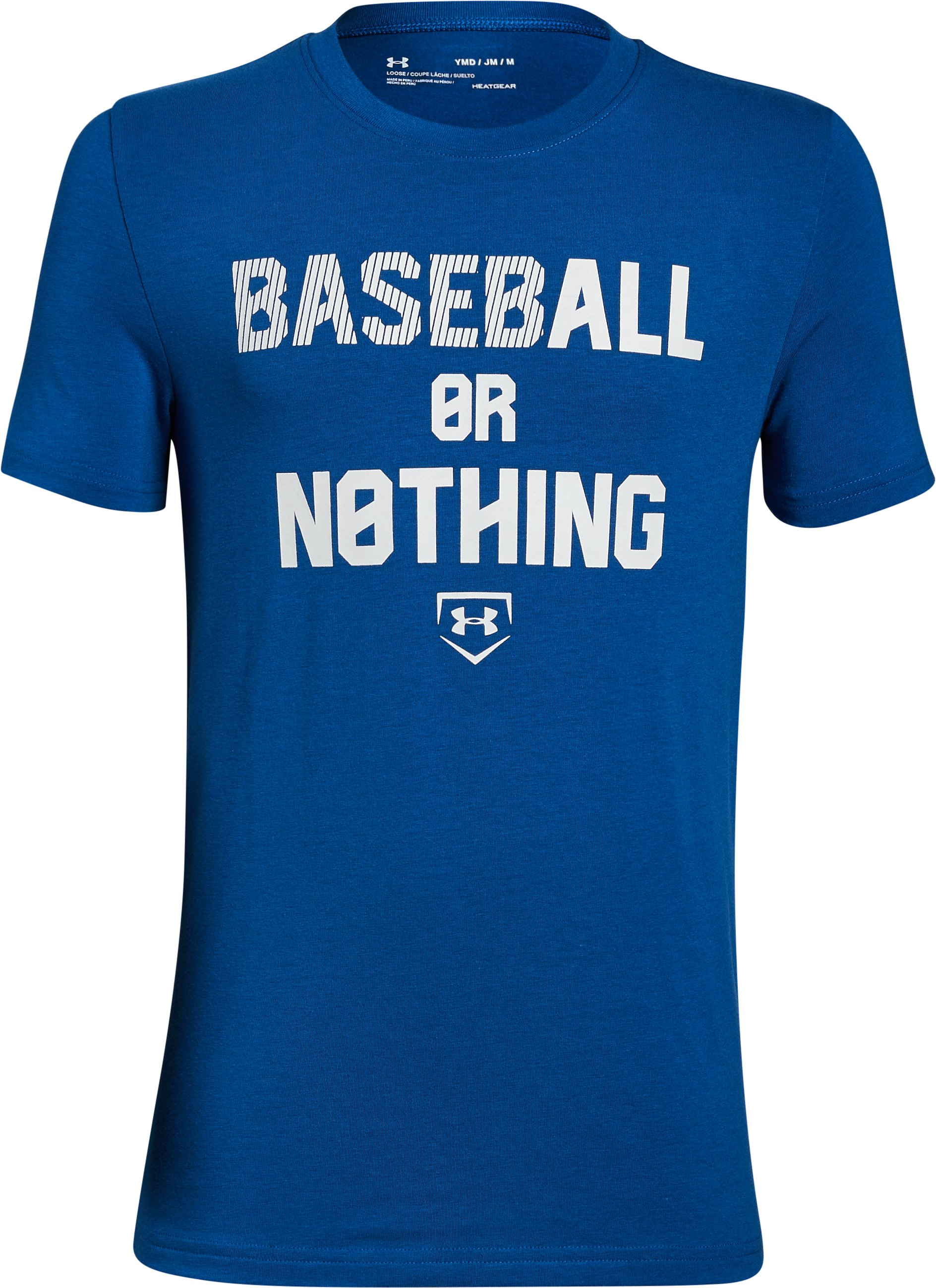 Boys' UA Baseball Or Nothing T-Shirt, Royal, undefined