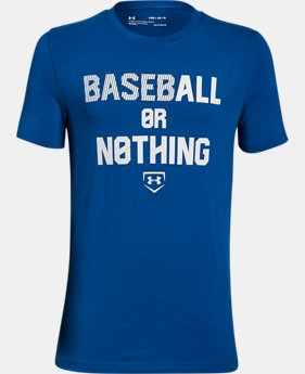 Boys' UA Baseball Or Nothing T-Shirt  2 Colors $19.99