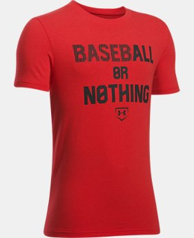 New Arrival Boys' UA Baseball Or Nothing T-Shirt  1 Color $19.99