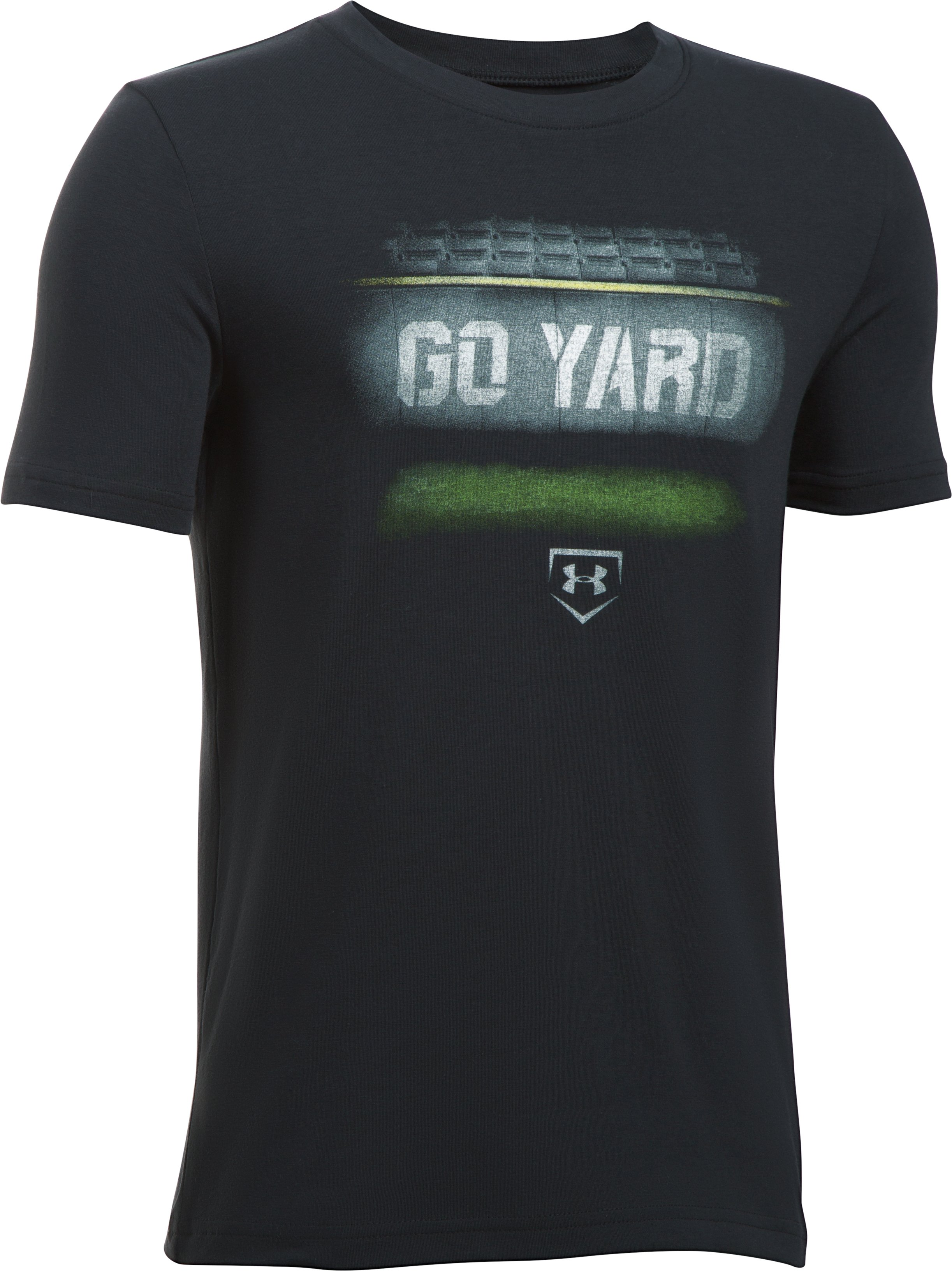 Boys' UA Go Yard T-Shirt, Black ,