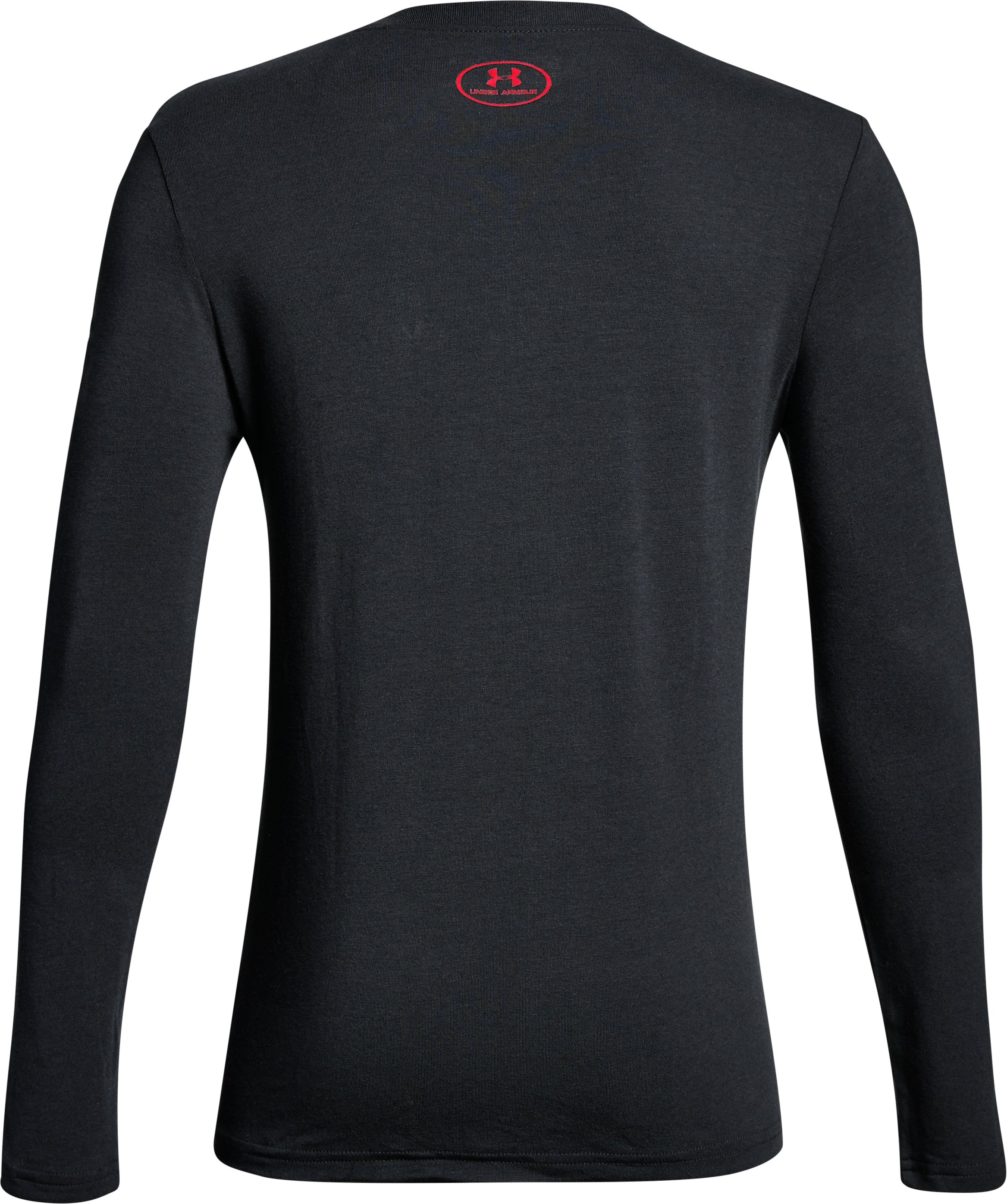 Boys' UA Homeplate Long Sleeve T-Shirt, Black ,
