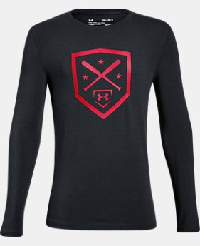 New Arrival Boys' UA Homeplate Long Sleeve T-Shirt  3 Colors $24.99