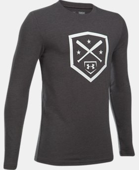 Boys' UA Homeplate Long Sleeve T-Shirt  2  Colors Available $24.99