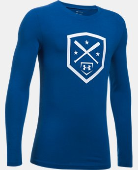 Boys' UA Homeplate Long Sleeve T-Shirt  1  Color Available $24.99
