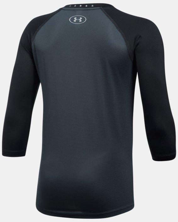 Boys' UA Heater ¾ Sleeve T-Shirt, Black, pdpMainDesktop image number 1