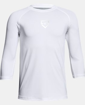 New Arrival Boys' UA Heater ¾ Sleeve T-Shirt  1 Color $29.99