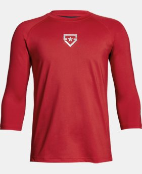 Boys' UA Heater ¾ Sleeve T-Shirt  1  Color Available $29.99