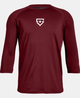 New to Outlet Boys' UA Heater ¾ Sleeve T-Shirt  1  Color Available $22.99
