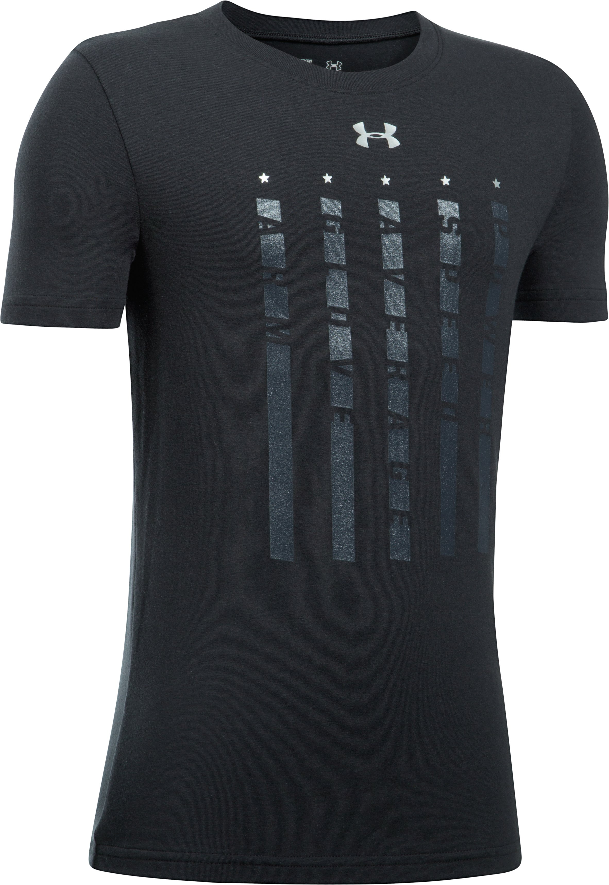 Boys' UA Heater 5 Star T-Shirt, Black