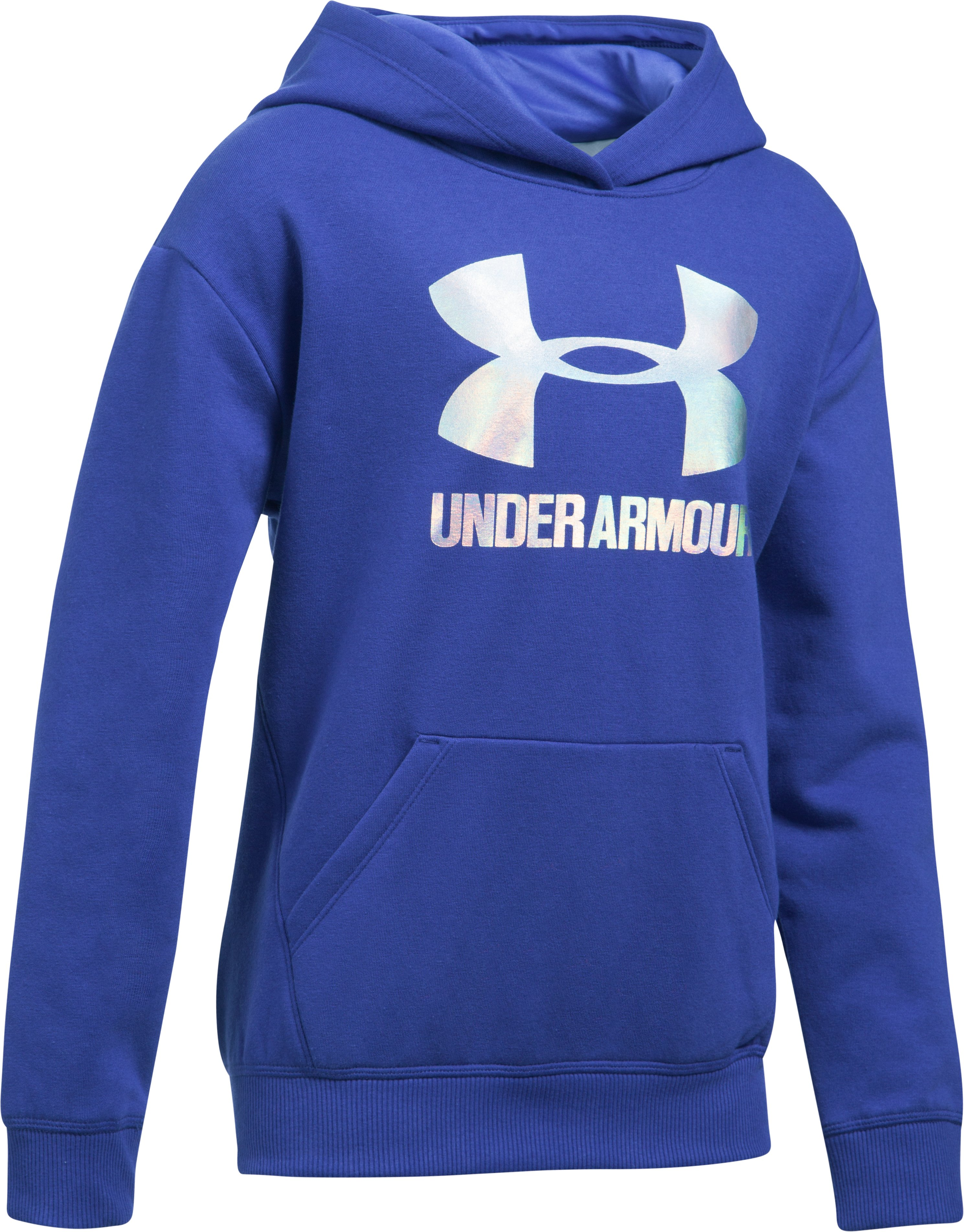 Girls' UA Threadborne™ Fleece Hoodie, CONSTELLATION PURPLE,
