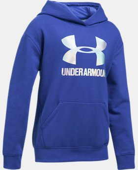 Girls' UA Threadborne™ Fleece Hoodie LIMITED TIME OFFER 1 Color $31.49