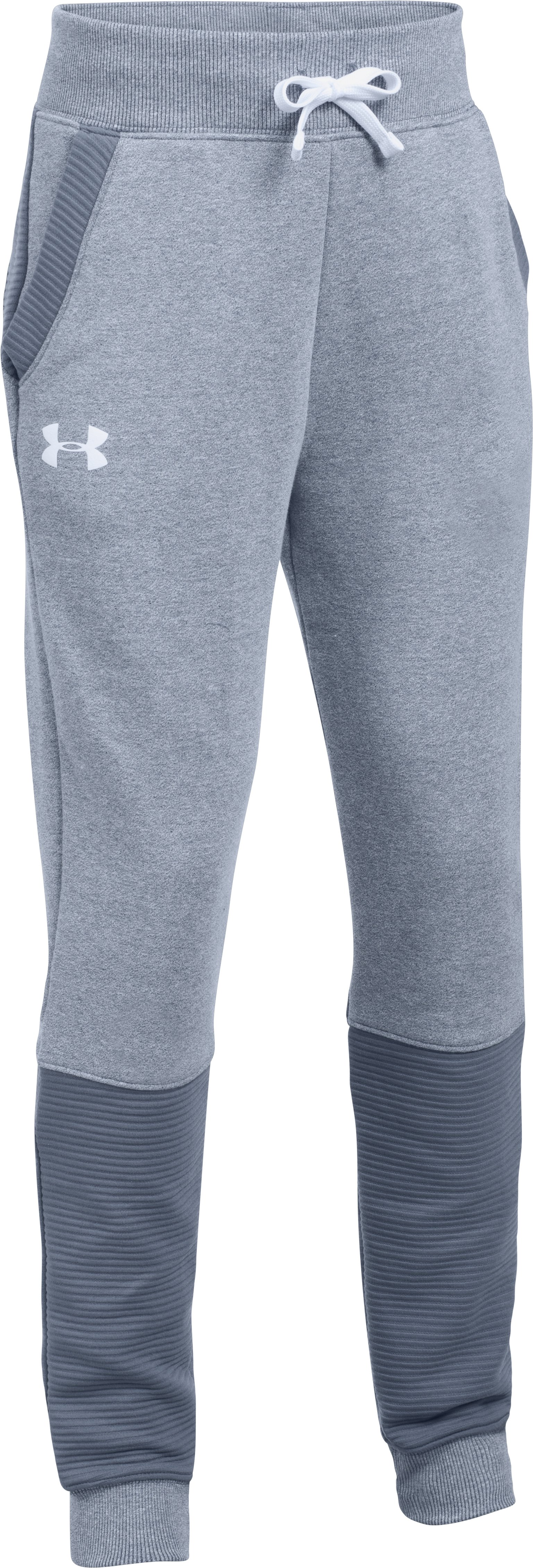 Girls' UA Threadborne™ Ridge Jogger, APOLLO GRAY,