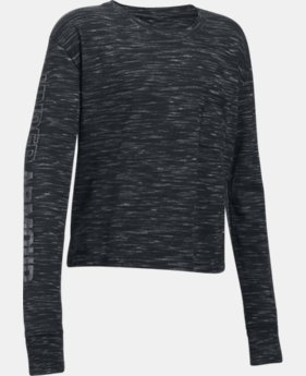 New Arrival Girls' UA Elevated Training Knit Long Sleeve  1 Color $34.99