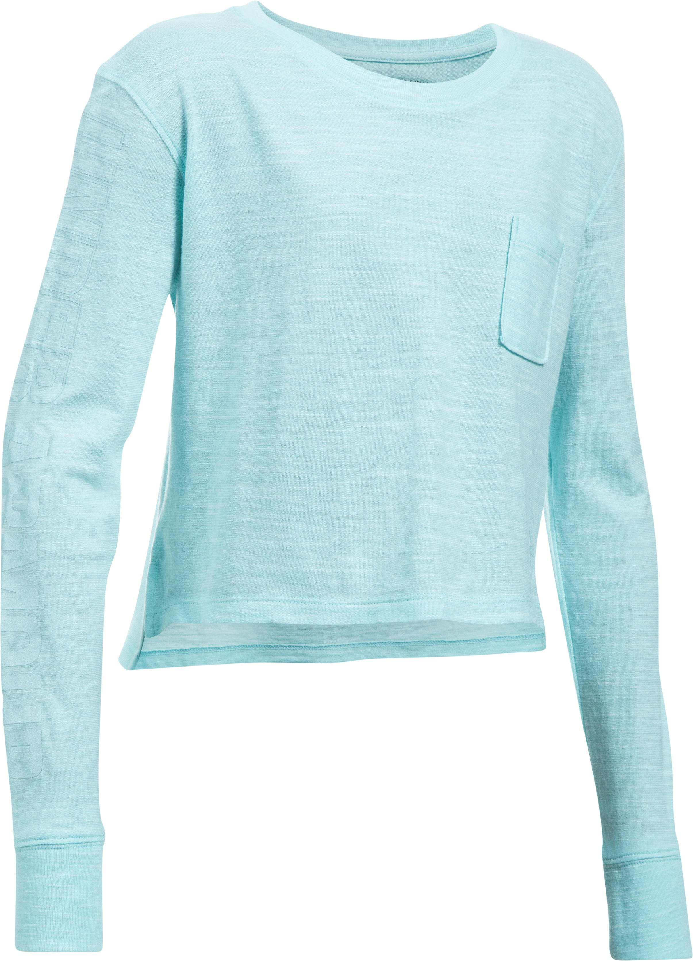 Girls' UA Elevated Training Knit Long Sleeve, BLUE INFINITY, undefined