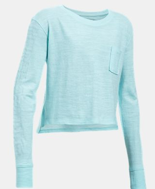 Girls' UA Elevated Training Knit Long Sleeve