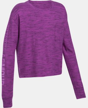 Girls' UA Elevated Training Knit Long Sleeve  2 Colors $34.99