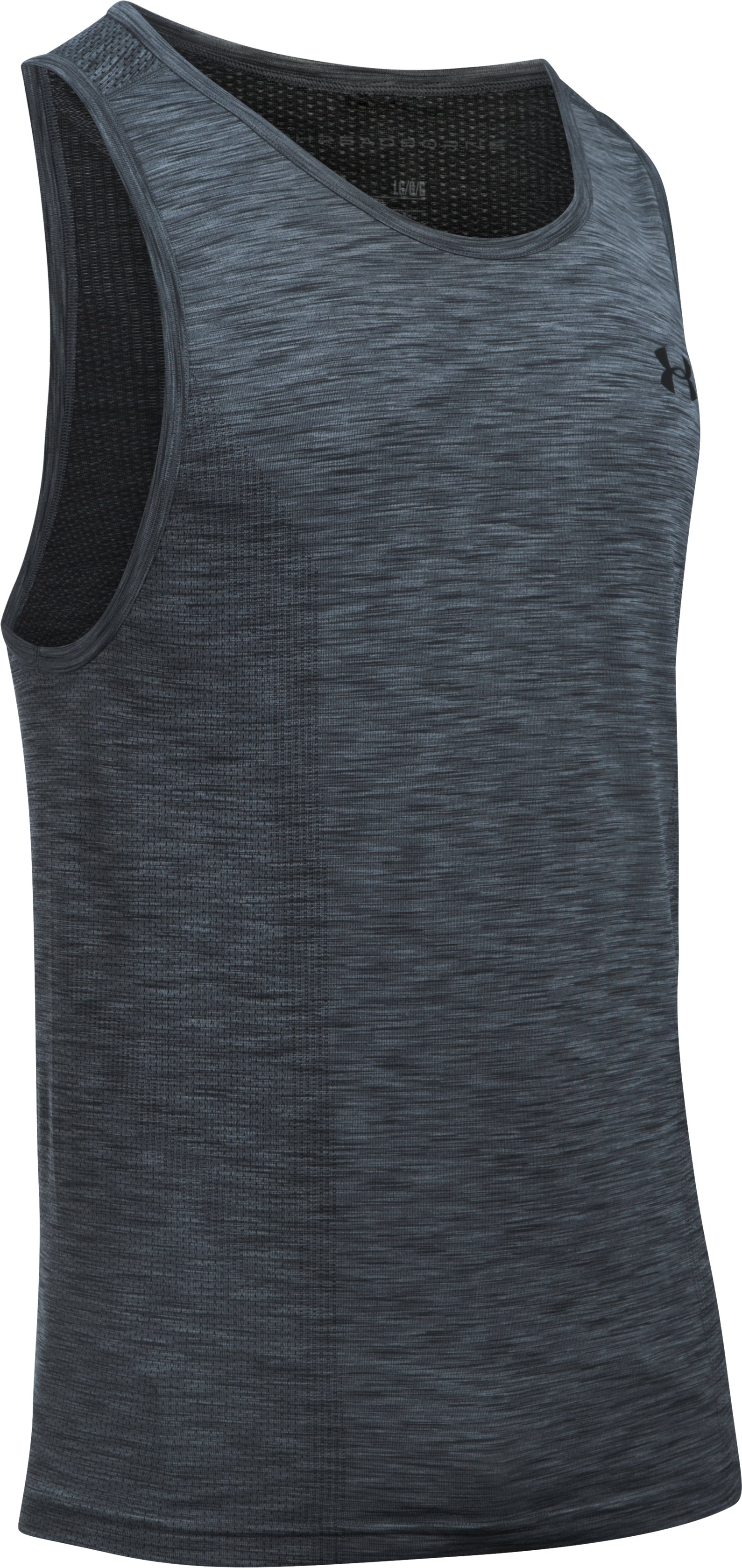 Men's UA Threadborne Seamless Tank, Graphite, undefined