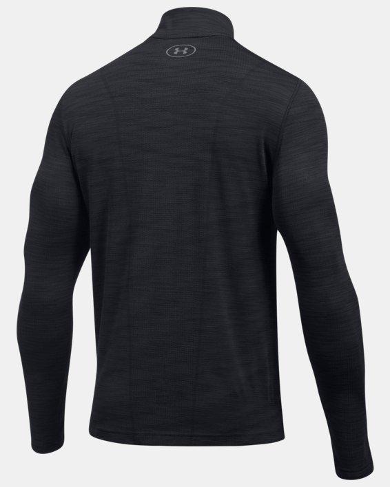 Men's UA Threadborne™ Seamless ¼ Zip, Black, pdpMainDesktop image number 4