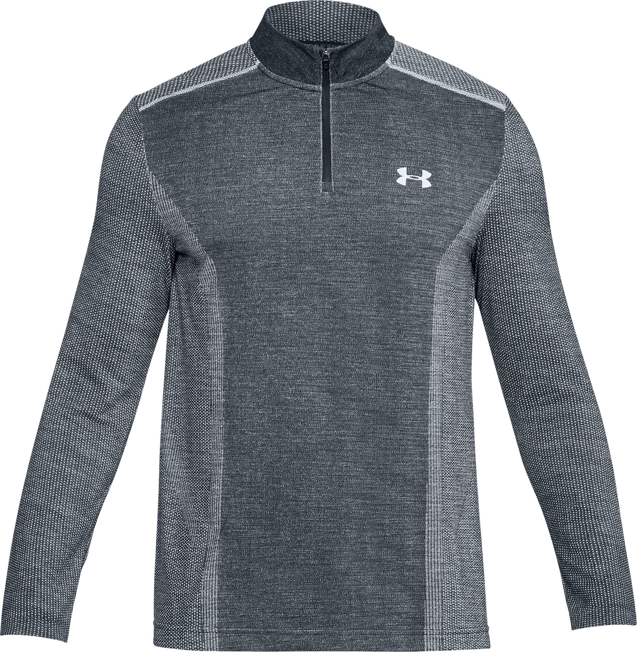 Men's UA Threadborne™ Seamless ¼ Zip, White, undefined
