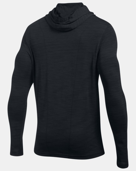 Men's UA Threadborne™ Seamless Hoodie, Black, pdpMainDesktop image number 4