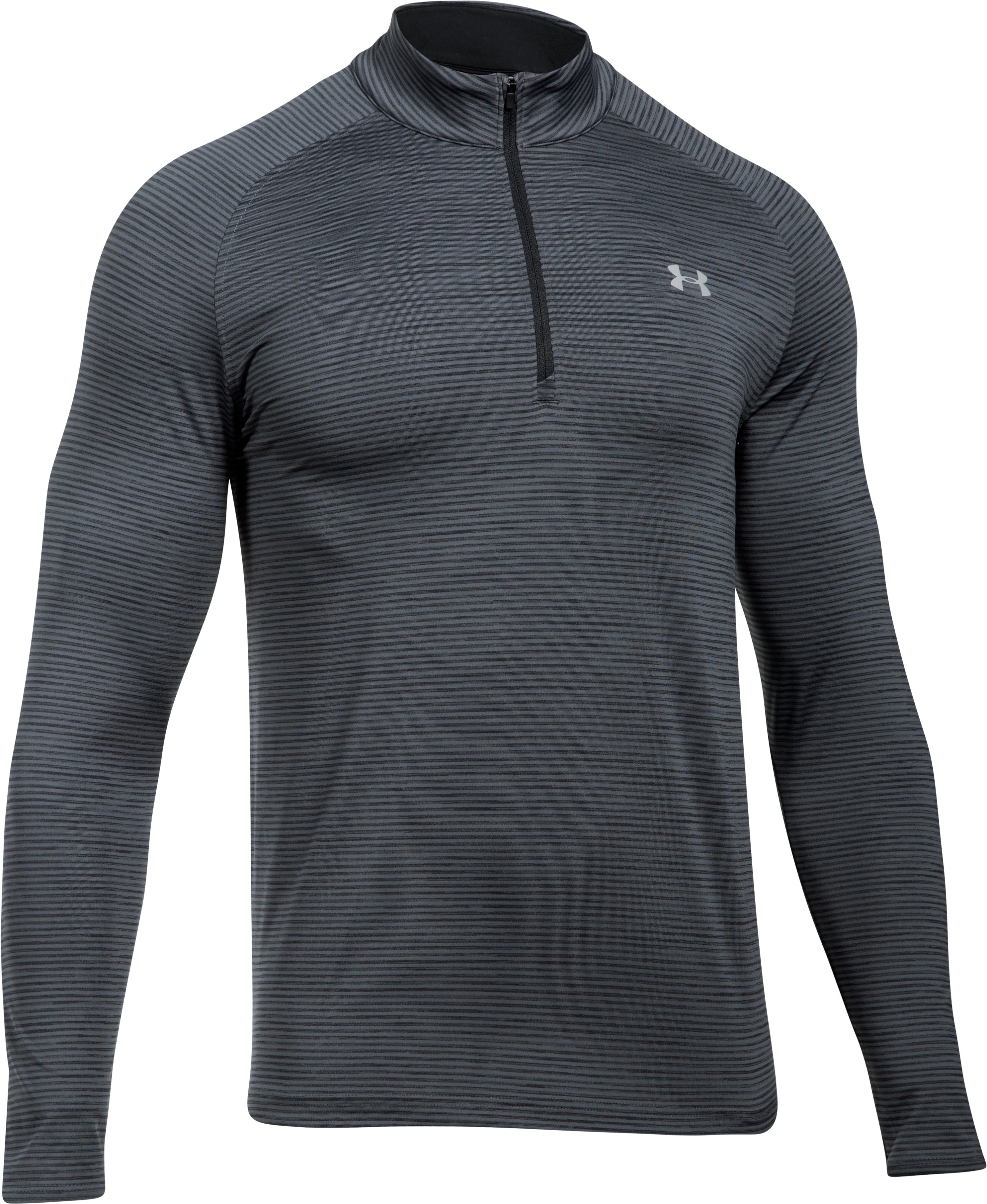 Men's UA Playoff ¼ Zip, RHINO GRAY,