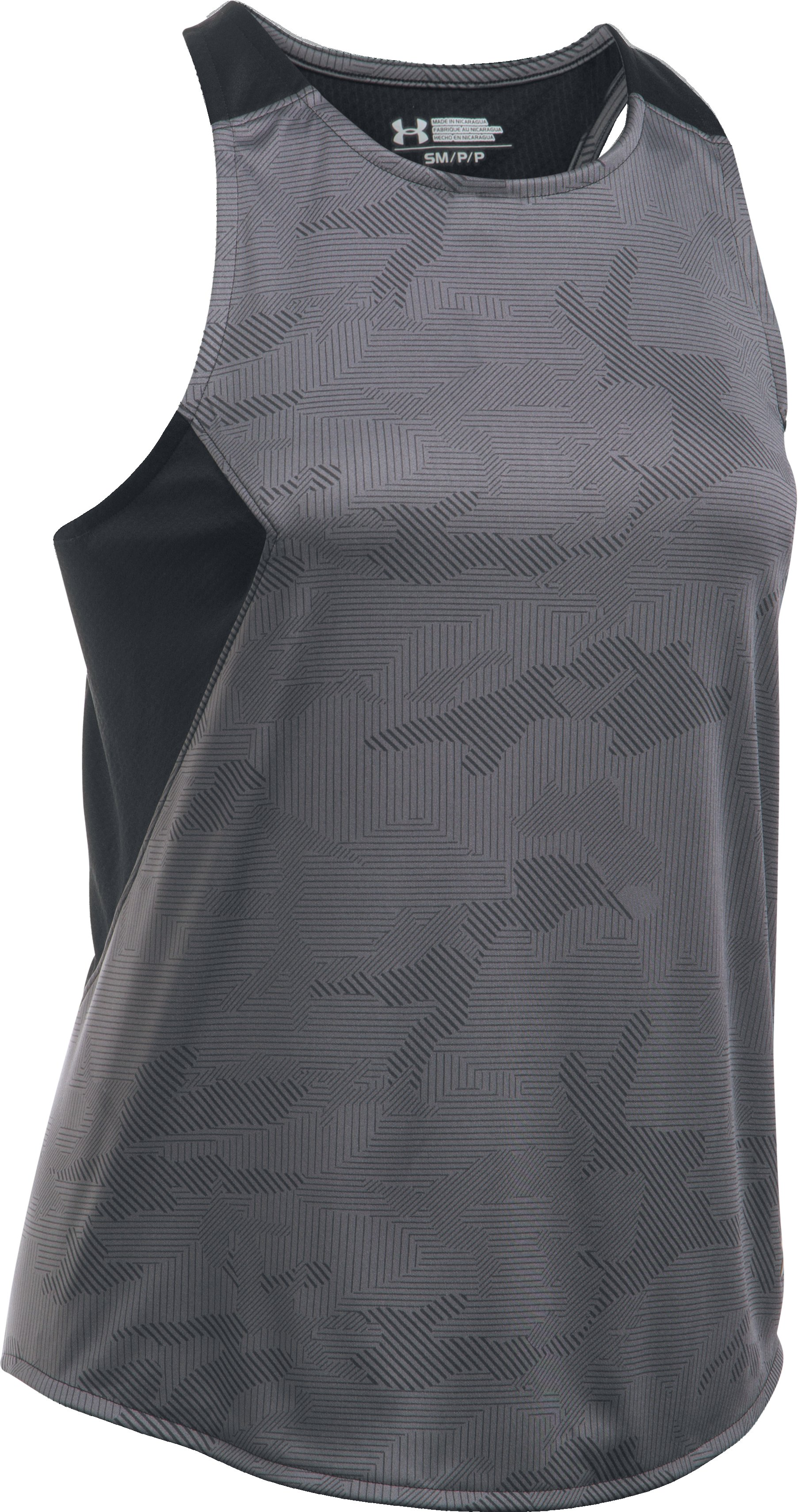 Women's UA Challenger II Train Printed Tank, Graphite