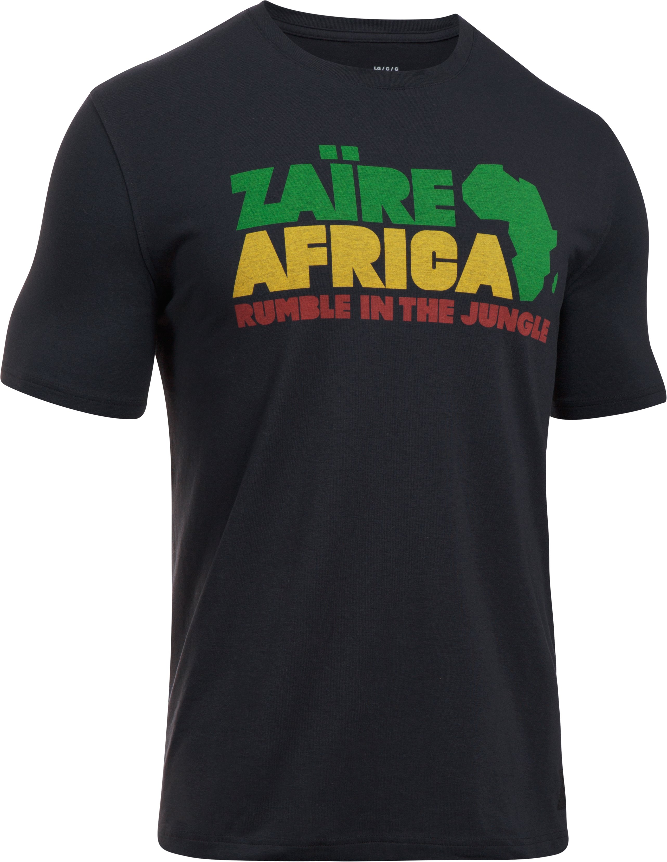 Men's UA x ALI Rumble Zaire 74 T-Shirt, Black ,