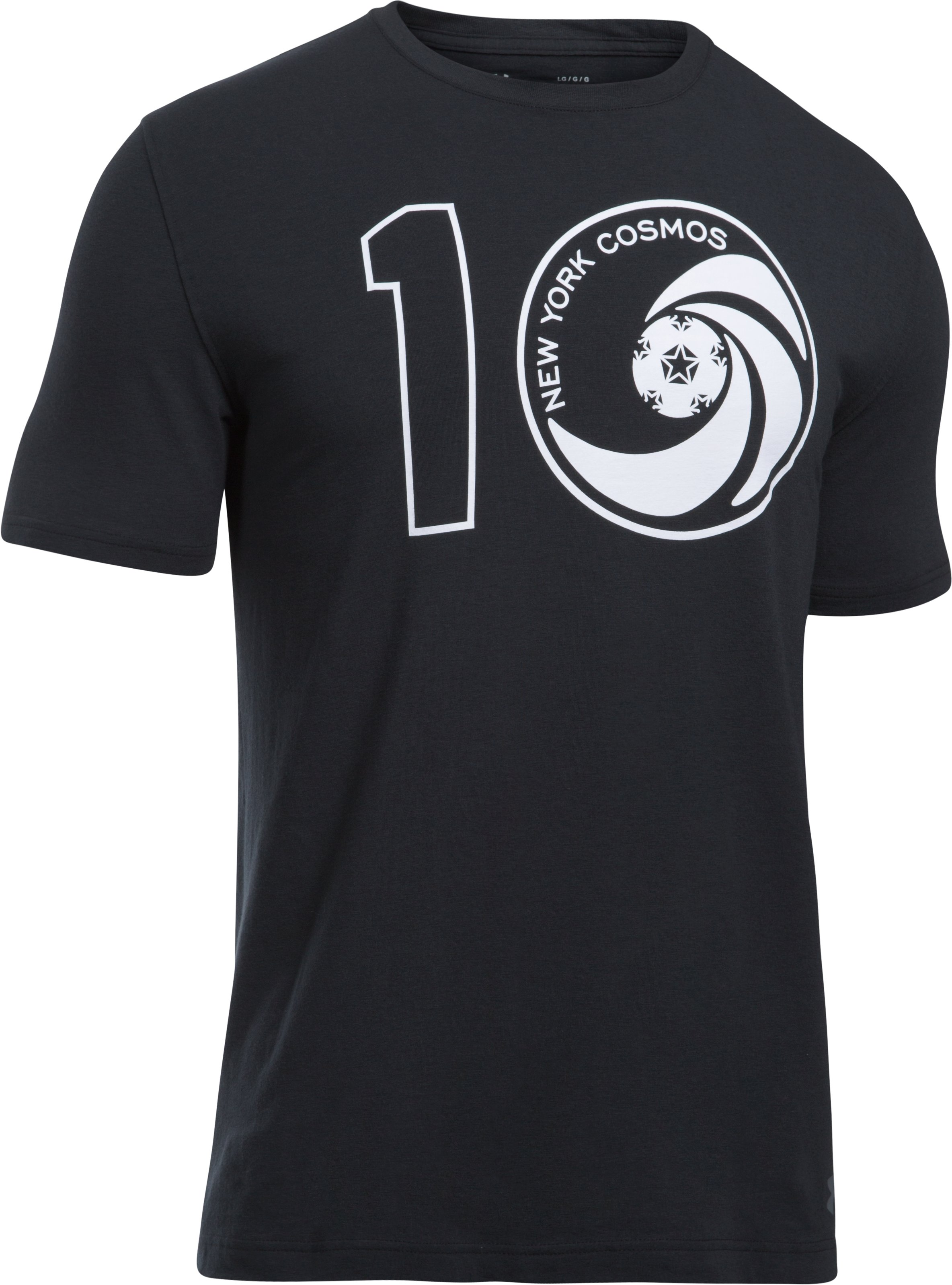 Men's UA Pele Cosmos T-Shirt, Black ,