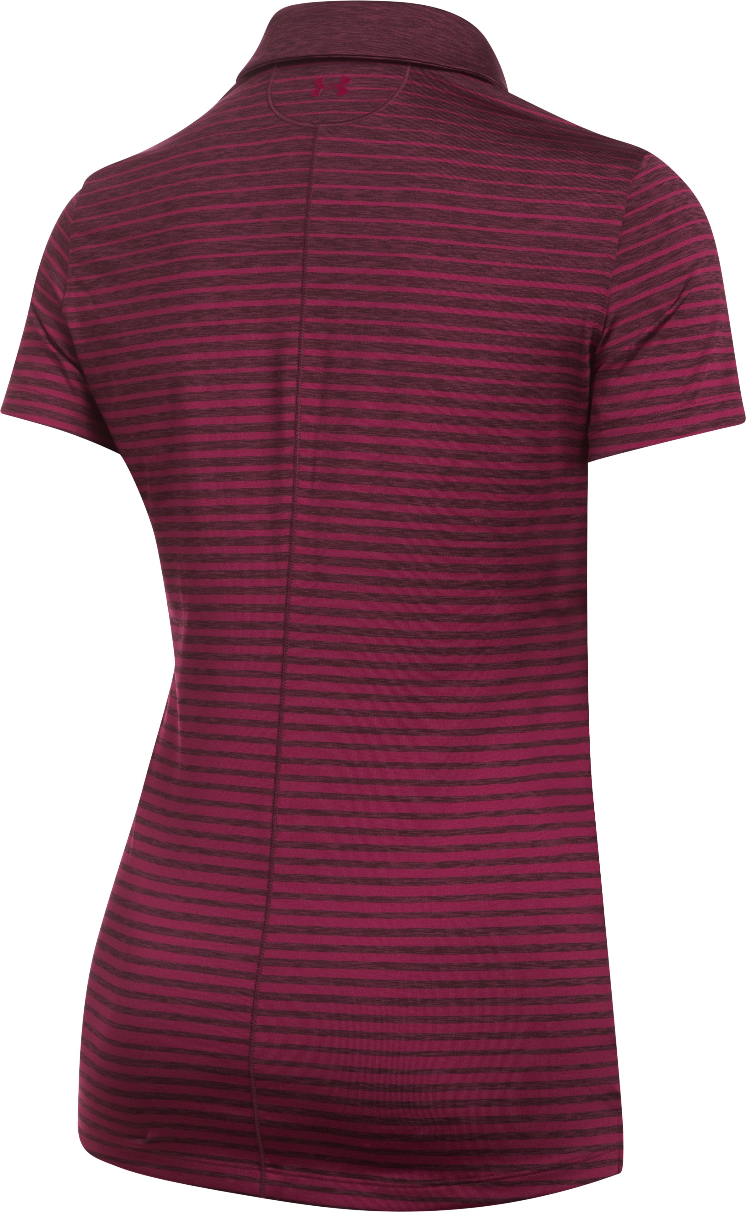 Women's UA Zinger Printed Polo, BLACK CURRANT,