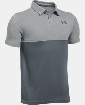 Boys' UA Threadborne Blocked Polo  4 Colors $34.99