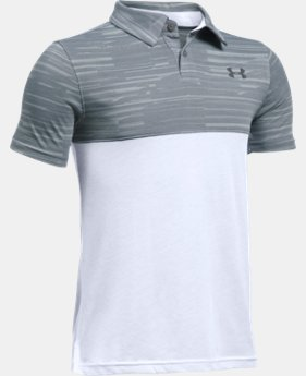 New Arrival Boys' UA Threadborne Blocked Polo   $34.99