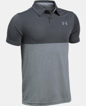 Boys' UA Threadborne Blocked Polo  2 Colors $18.74