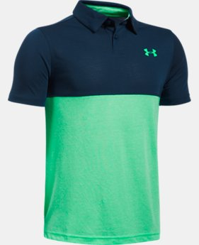 New to Outlet Boys' UA Threadborne Blocked Polo  1 Color $18.74 to $24.99