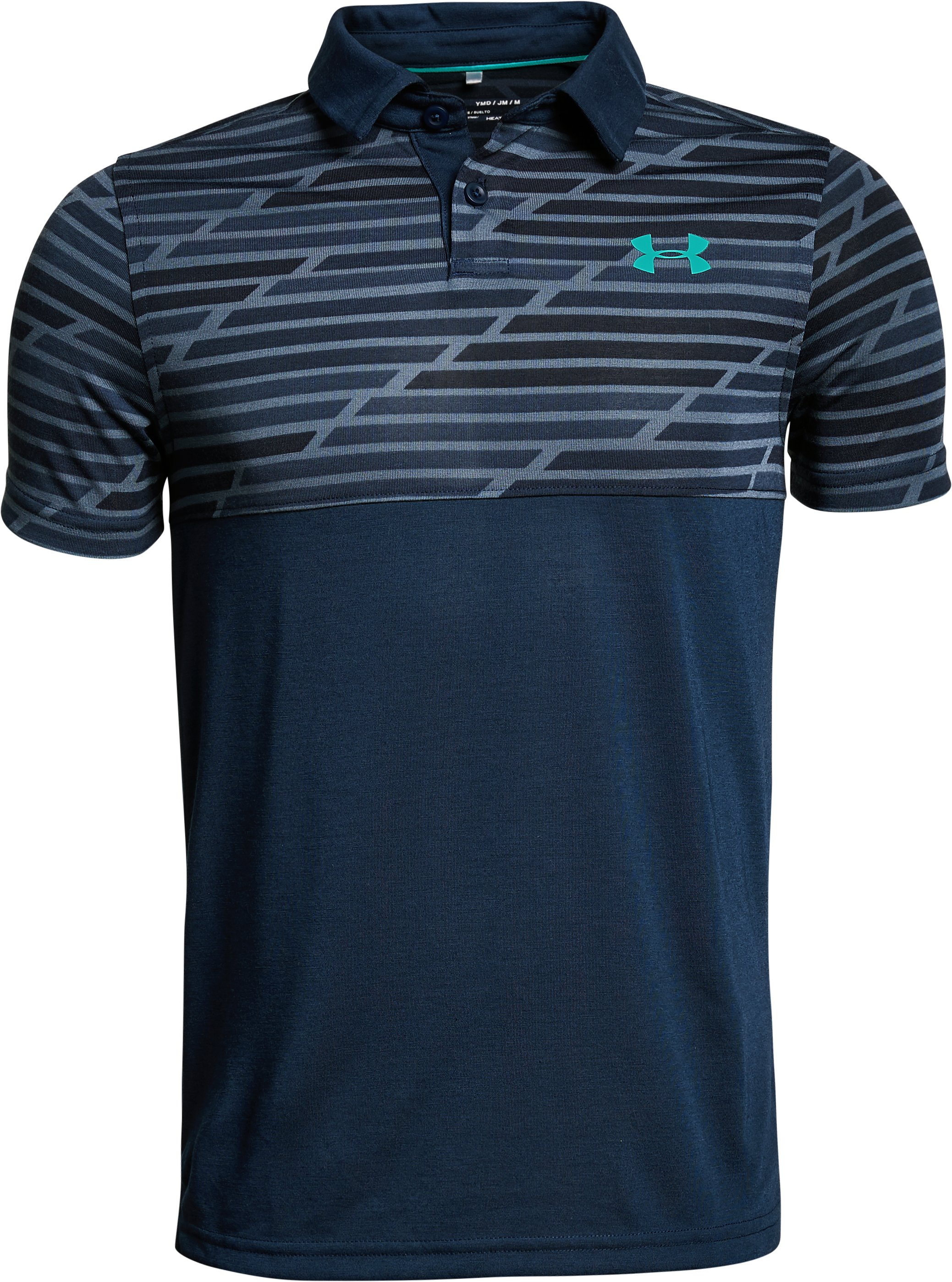Boys' UA Threadborne Blocked Polo, Academy, undefined
