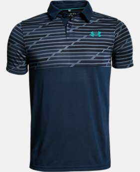New Arrival  Boys' UA Threadborne Blocked Polo  3 Colors $39.99