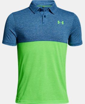 Boys' UA Threadborne Blocked Polo  2  Colors Available $34.99