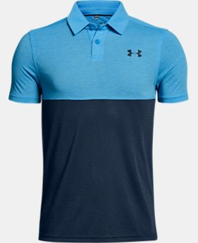 New Arrival Boys' UA Threadborne Blocked Polo  3 Colors $34.99