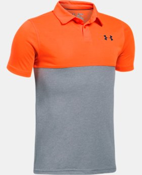 Boys' UA Threadborne Blocked Polo  1 Color $24.99 to $26.99