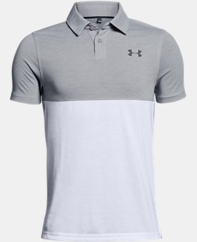 Boys' UA Threadborne Blocked Polo FREE U.S. SHIPPING 3  Colors Available $34.99