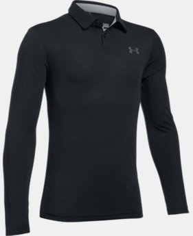 Boys' UA Threadborne™ Long Sleeve Polo  3 Colors $39.99