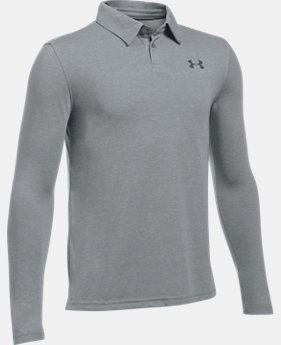 Boys' UA Threadborne™ Long Sleeve Polo  2 Colors $39.99