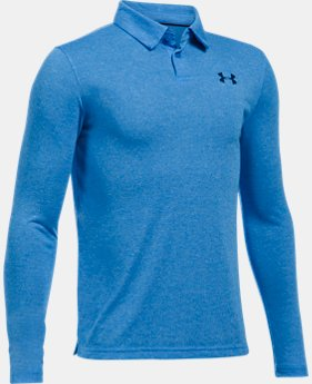 Boys' UA Threadborne™ Long Sleeve Polo  1 Color $29.99