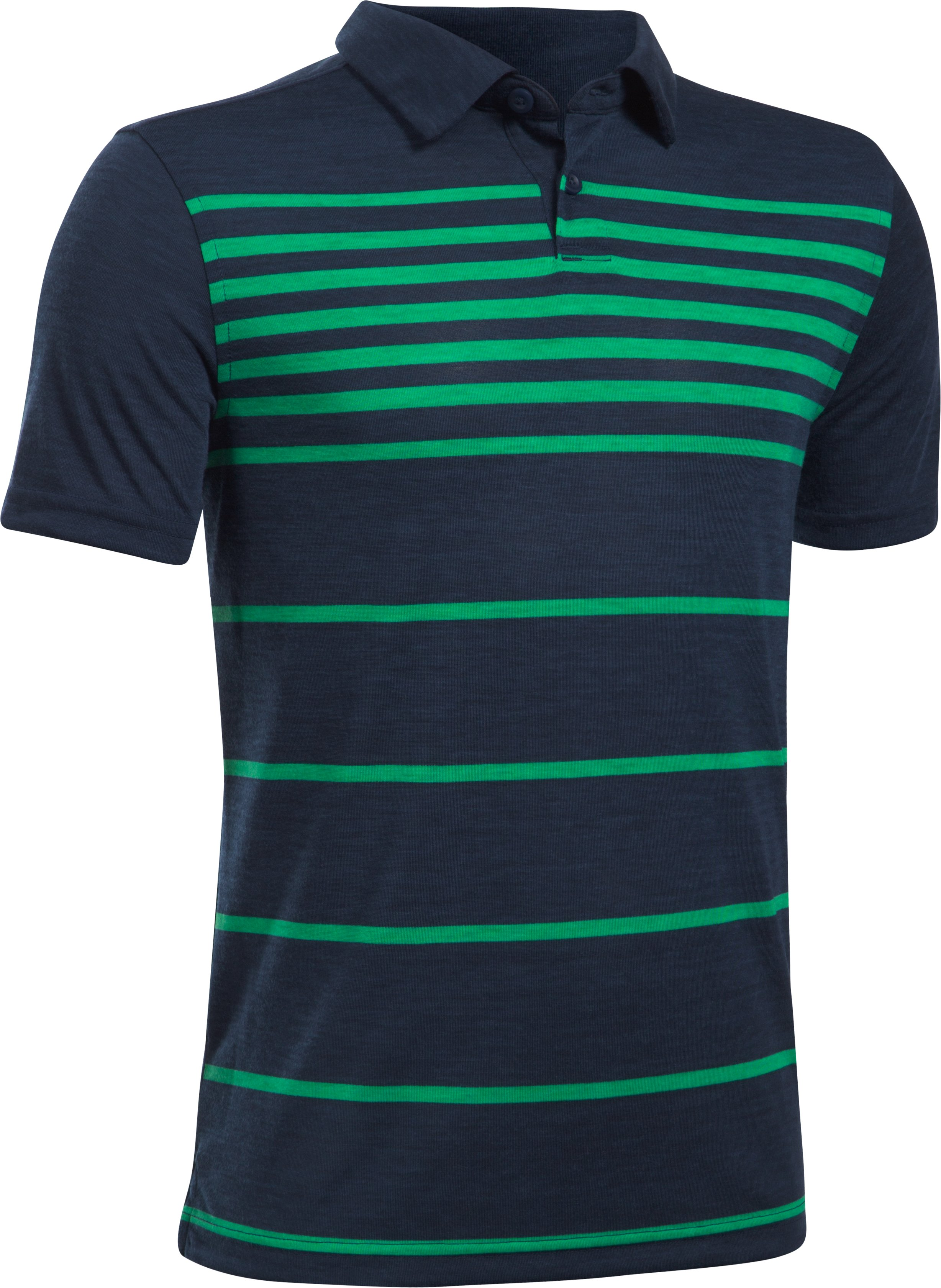 Boys' UA Threadborne™ Brassie Stripe Polo, Academy, undefined