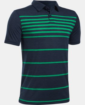 Boys' UA Threadborne™ Brassie Stripe Polo  1 Color $39.99