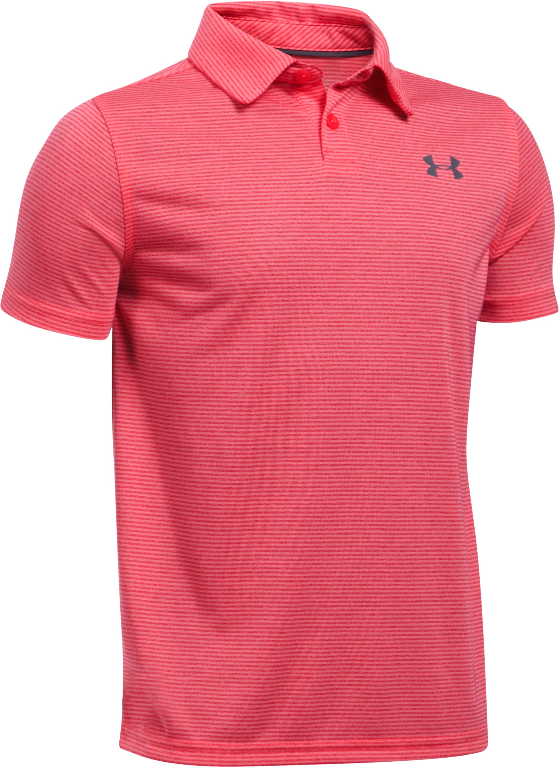 Boys' UA Threadborne™ Feeder Polo, Hollywood