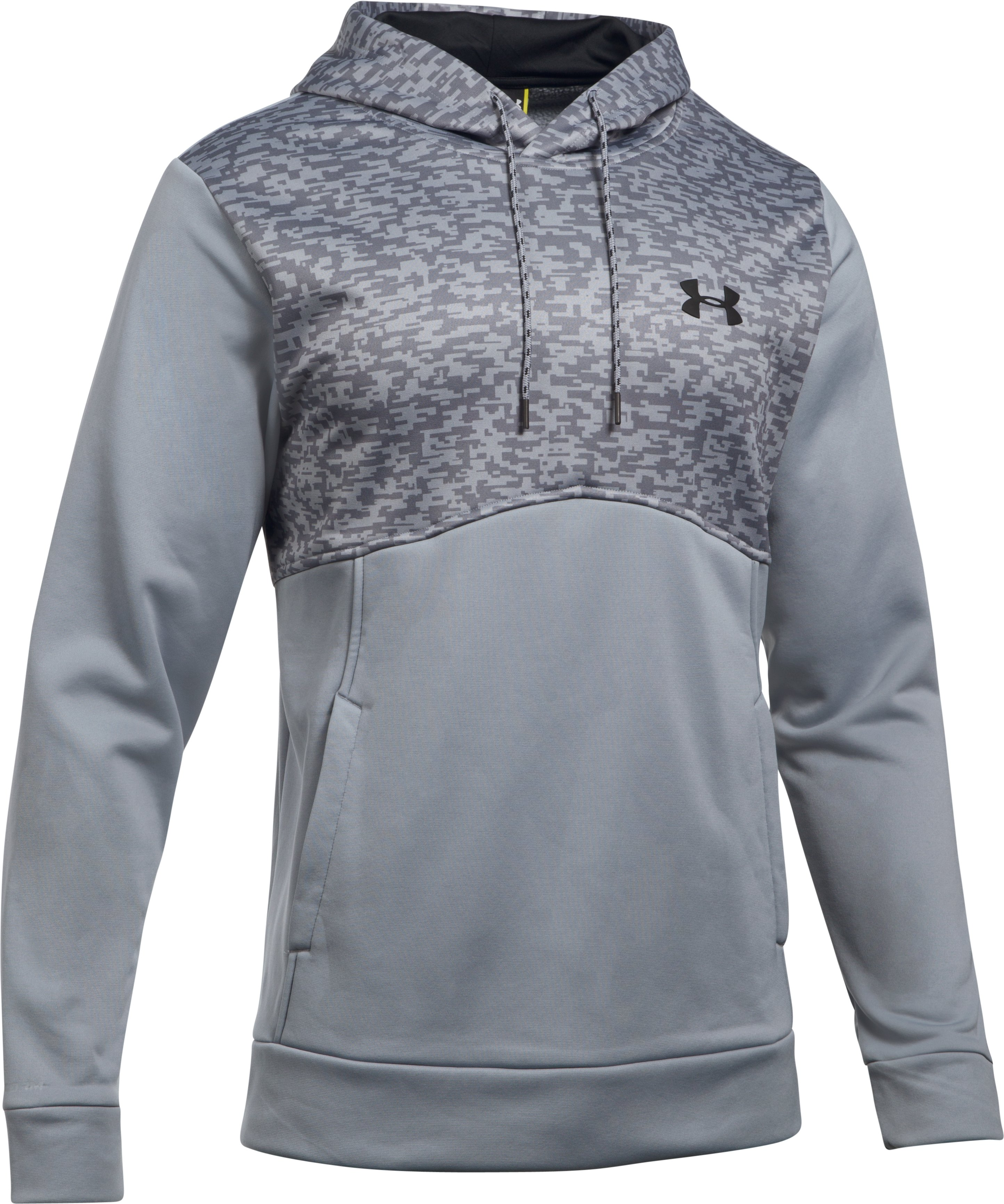 Men's UA Storm Armour Fleece® Digi Texture Hoodie, Steel, undefined