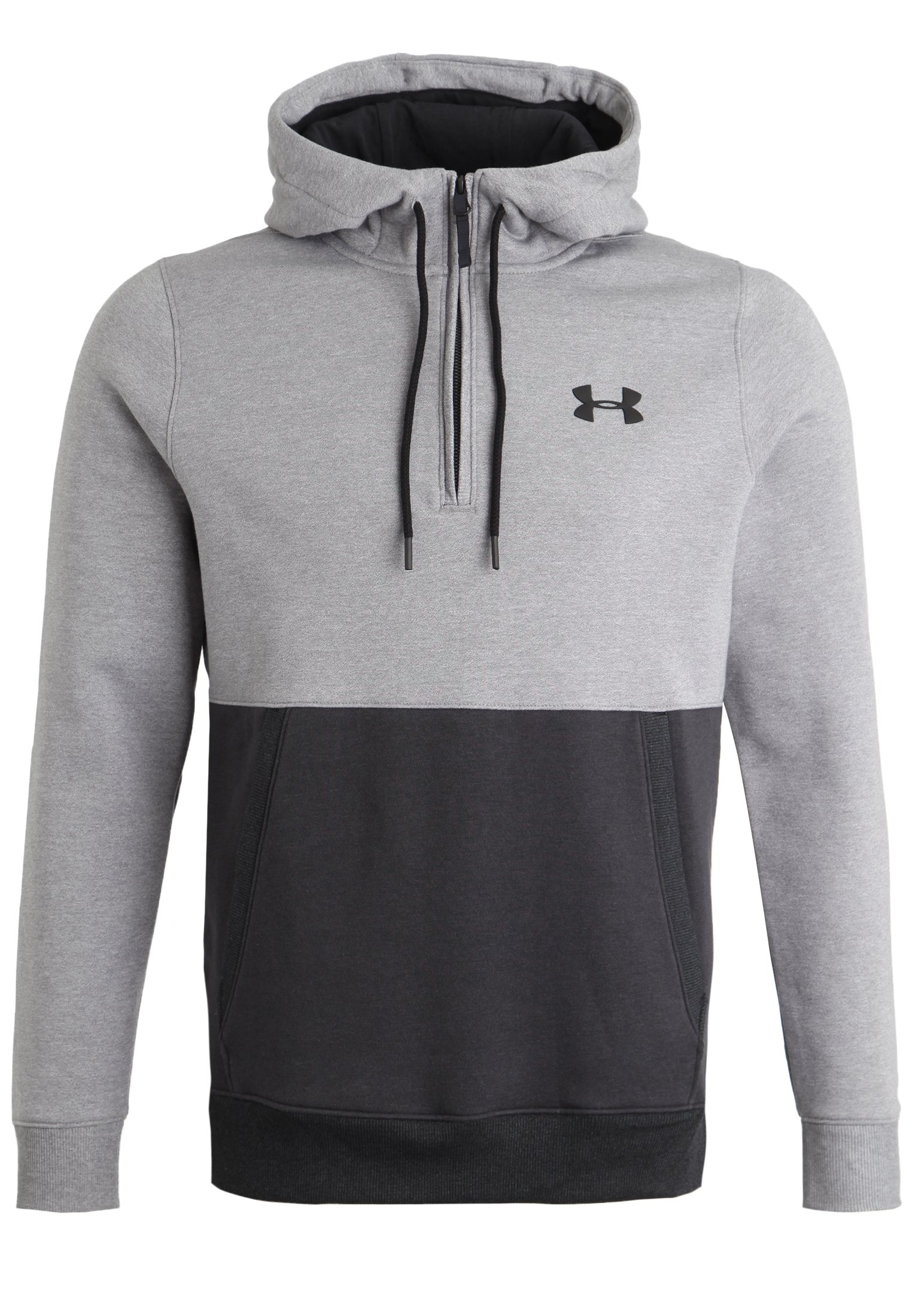 Men's UA Threadborne™ Fleece ½ Zip Hoodie, True Gray Heather,