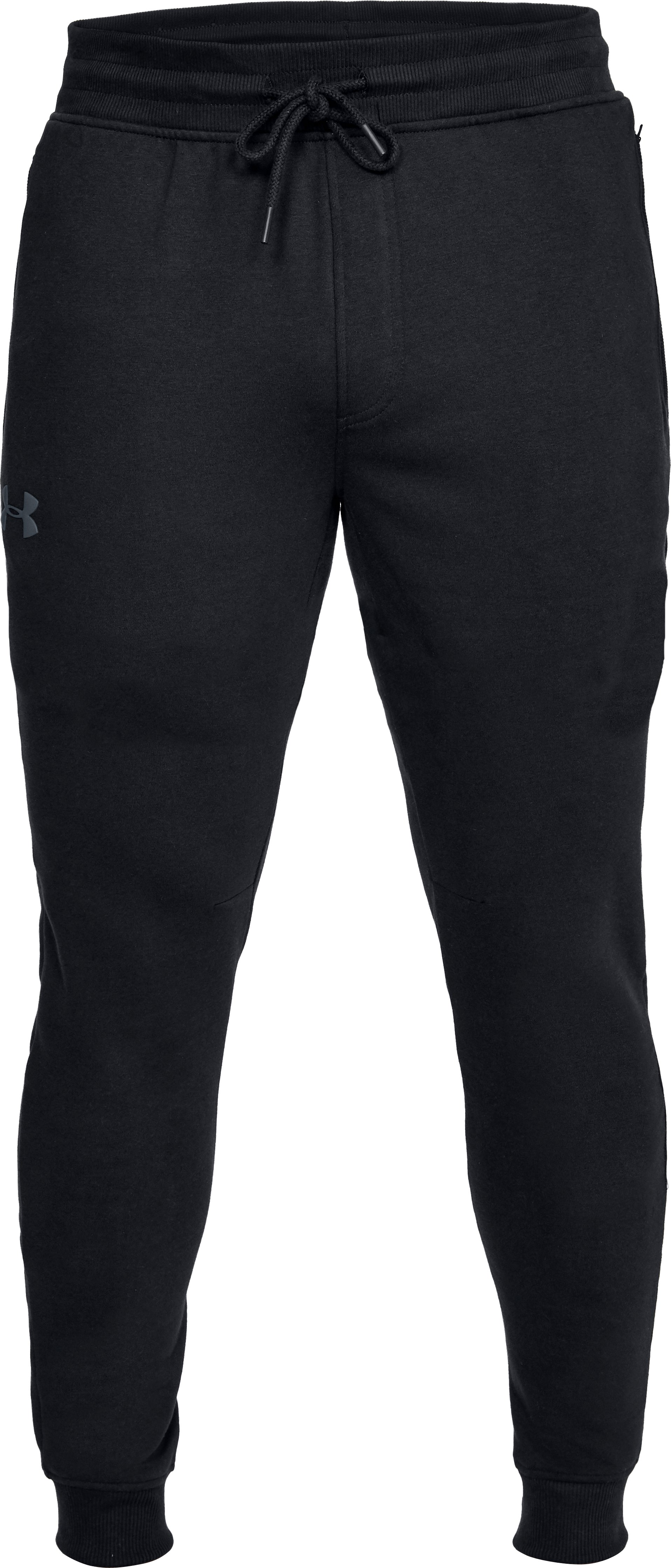 Men's UA Threadborne™ Fleece Stacked Joggers, Black , undefined