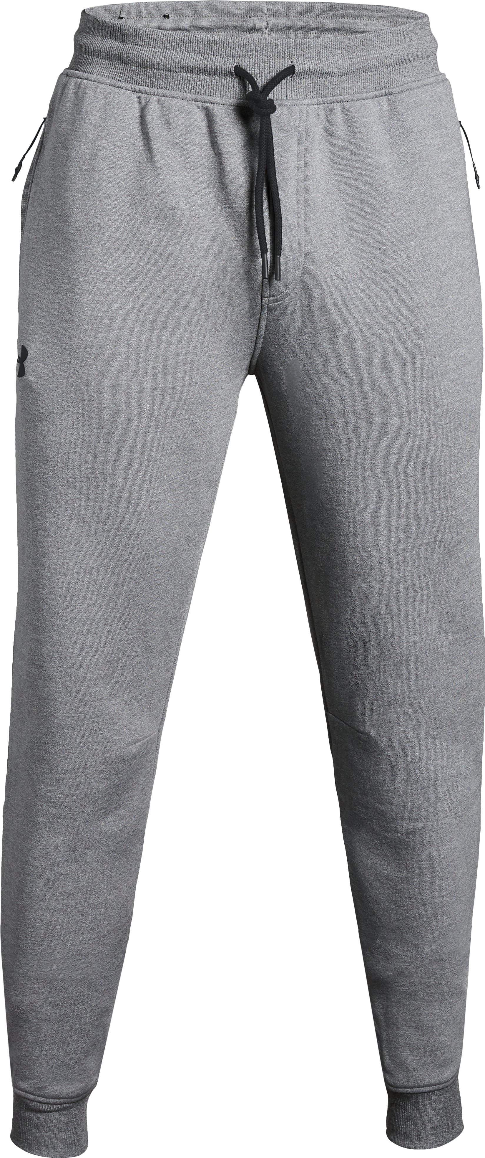 Men's UA Threadborne™ Fleece Stacked Joggers, True Gray Heather, undefined