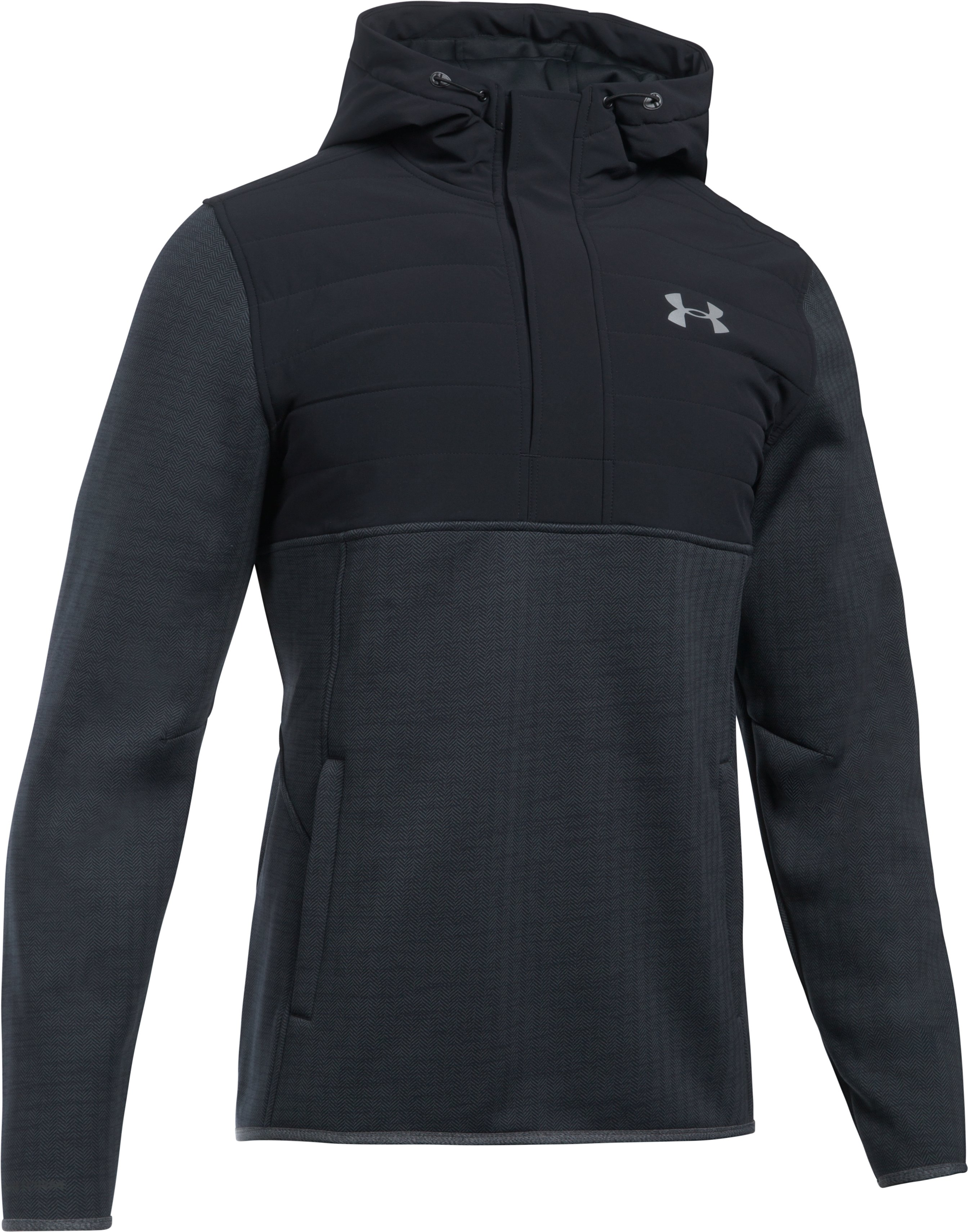 Men's UA Henley Swacket, Black ,
